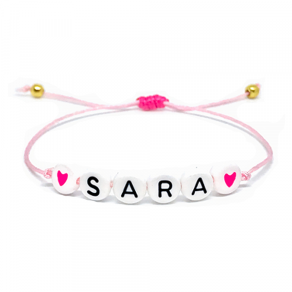 Twinkle Hands Personalized Name Bracelet diameter 3 to 8 inches