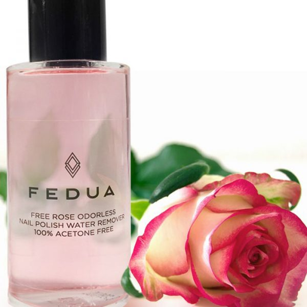 Fedua Rose Free Nail Polish Remover Glass Bottle