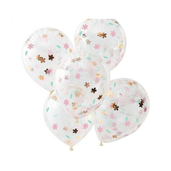 Ginger Ray Floral Confetti Balloons
