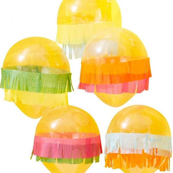 Ginger Ray Tissue Fringe Mexican Party Balloons