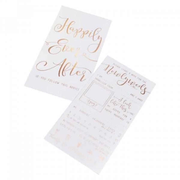 Ginger Ray Rose Gold Foiled Newlyweds Cards