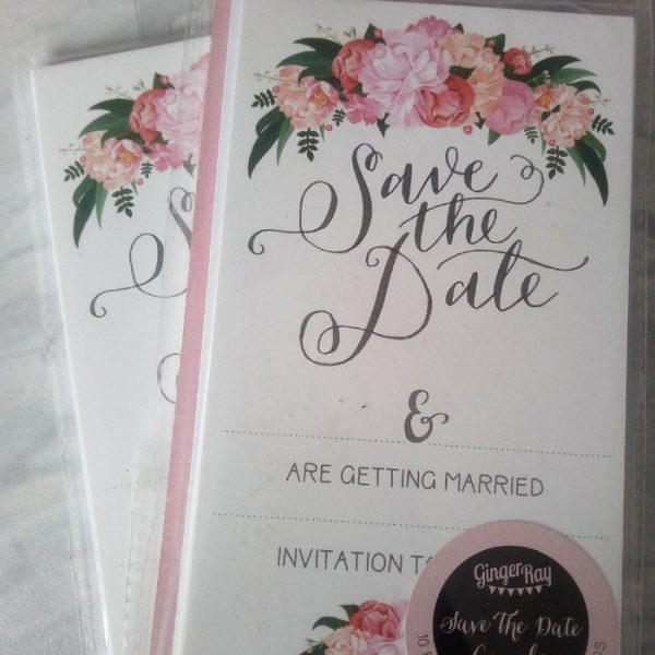 Ginger Ray Save The Date Cards