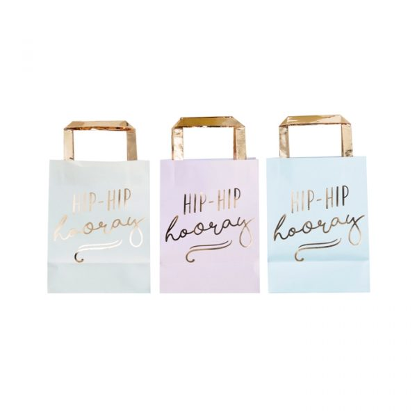 Ginger Ray Gold Foiled Pastel Party Bags