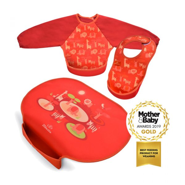 Bibetta Ultrabib Double Pack Safari Pattern & Red