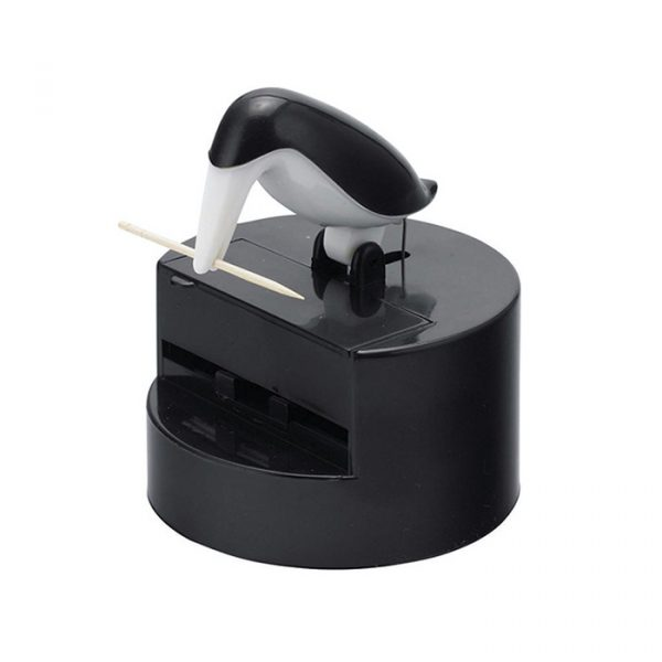Balvi Toothpick Holder Pelican Plastic Black