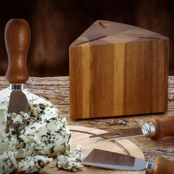 Balvi Cheese Set L'H?doniste Wood & Stainless