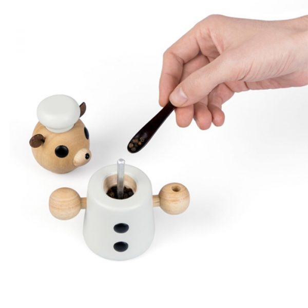 Balvi Pepper Grinder Wooden Teddy Cook 20 ml White