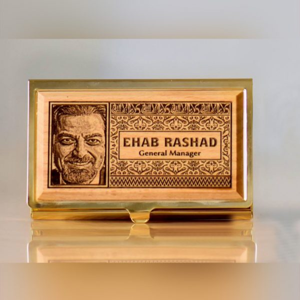 Lazer Gallery Personalized Luxurious Golden Metal Cards Holder