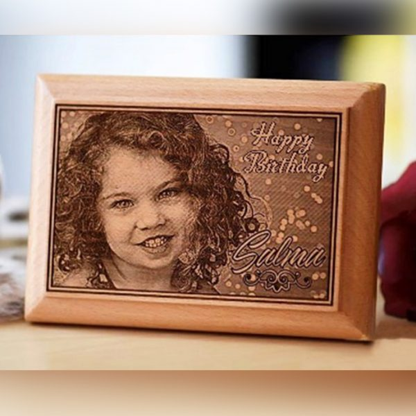 Lazer Gallery Personalized Wooden Photo Plaque Size 10 X 15Cm