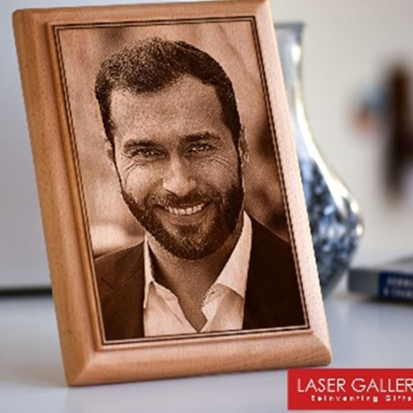 Lazer Gallery Personalized Wooden Photo Plaque Size 15 X 20 Cm