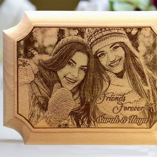 Lazer Gallery Personalized Anniversary Wooden Photo Plaque Size 15 X 20 Cm