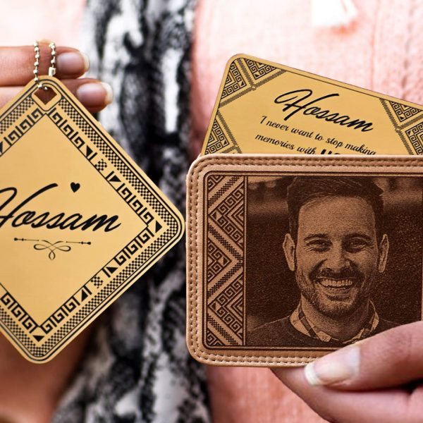 Lazer Gallery Personalized Car Hangout & Leather Wallet Set