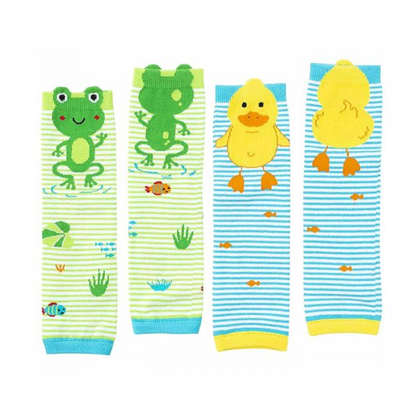 Zoocchini Baby & Toddler Comfort Leg Warmer 2 pc set Pond Pals