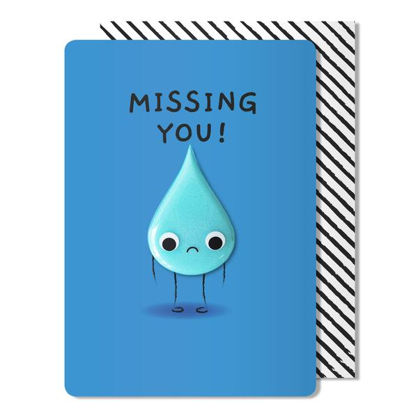 Pango Missing You Tear Magnet Card