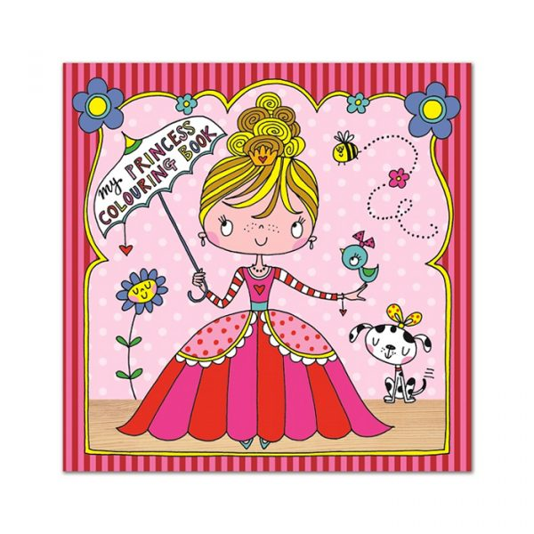 Rachel Ellen Square Colouring Book Princess Pink