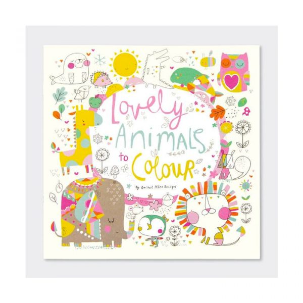 Rachel Ellen Lovely Animals Colouring Book Multicolor