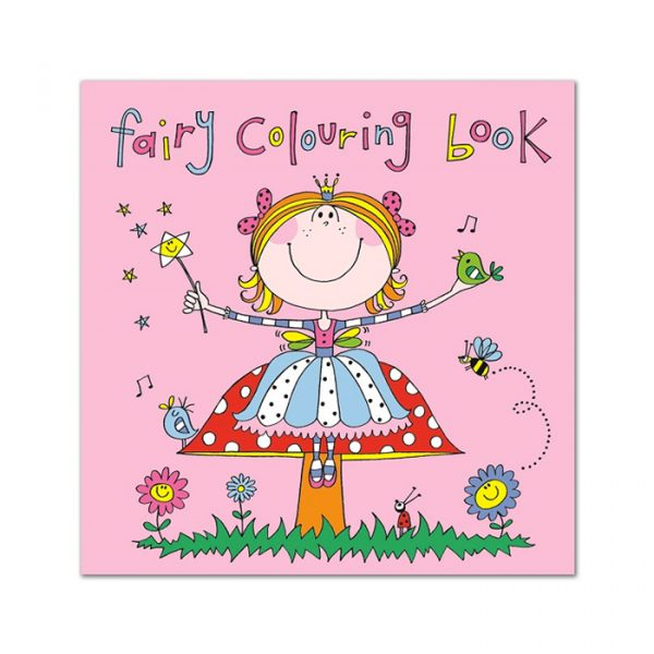 Rachel Ellen Square Colouring Book Fairy Pink