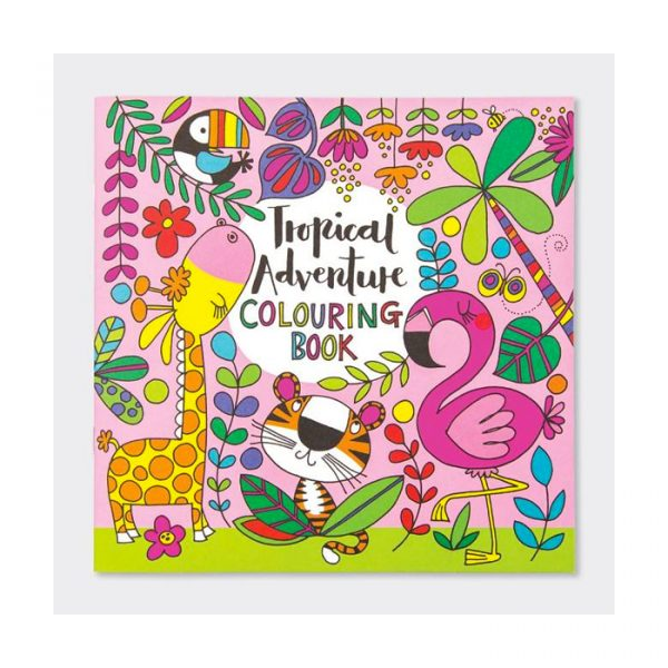 Rachel Ellen Tropical Adventure Colouring Book Multicolor