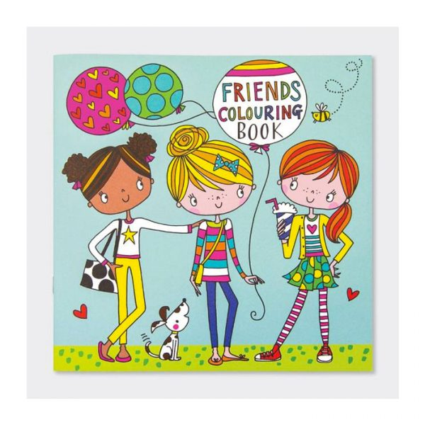Rachel Ellen Friends Square Colouring Book Multicolor