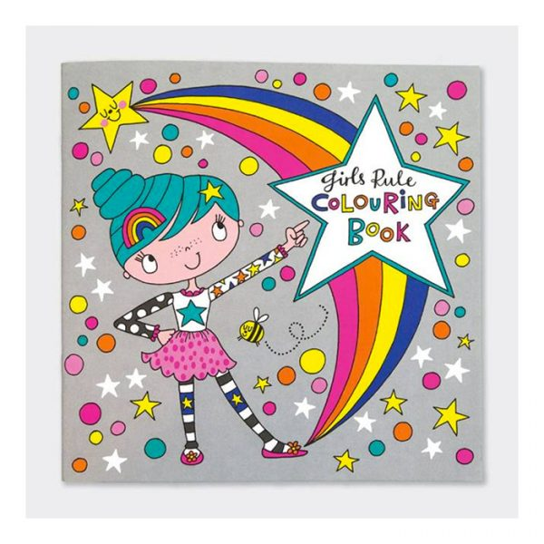 Rachel Ellen Girls Rule Colouring Book Multicolor