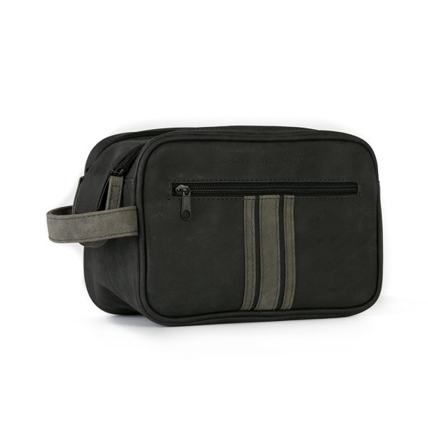 Danielle Creation Double Zip Bag Brompton & Langley Black And Charcoal