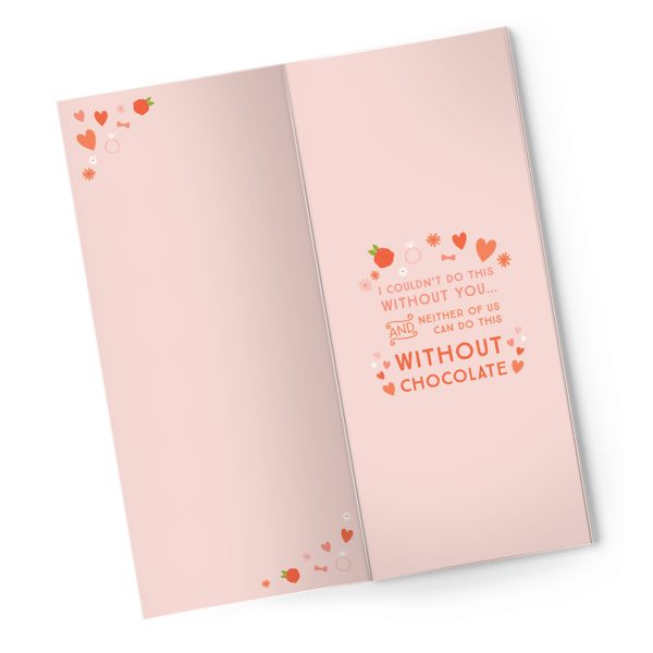 Sweet Cards Premium Sea Salt Caramel Dark Chocolate With Greeting Cards Will You Be My Bridesmaid