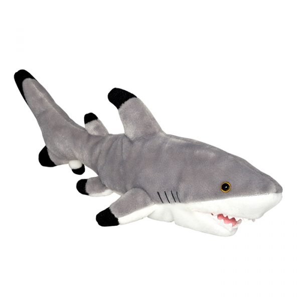 Wild Planet All About Nature Plush Toy Black Tip Shark