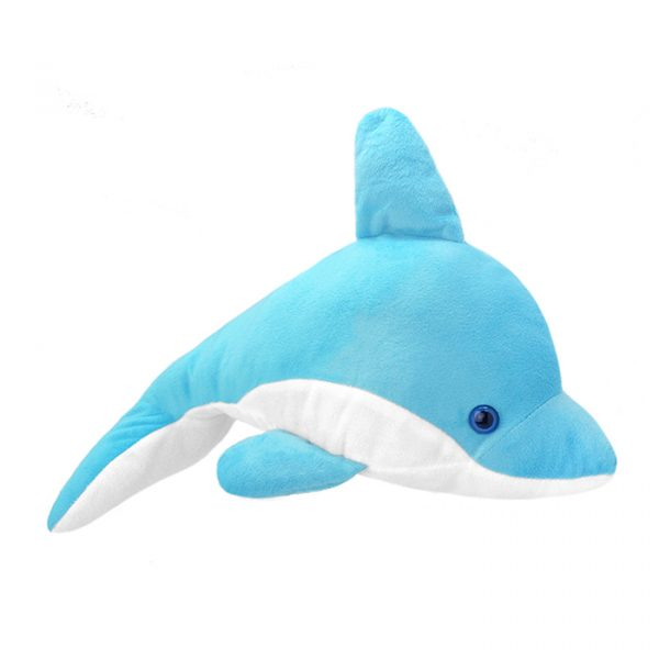 Wild Planet All About Nature Plush Toy Dolphin Blue