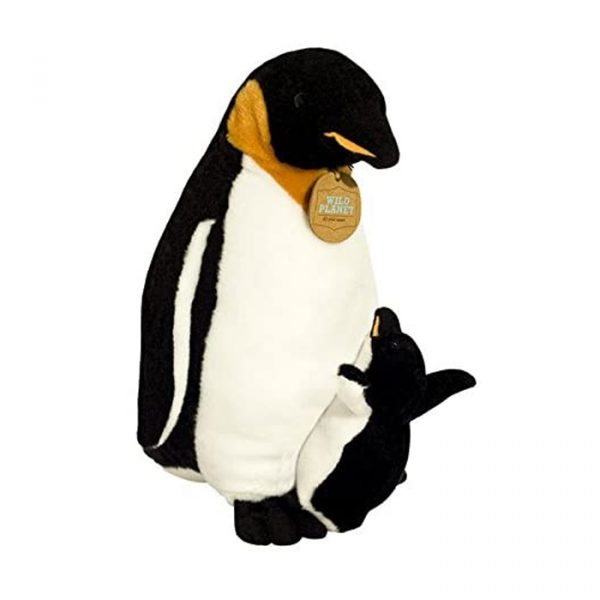 Wild Planet All About Nature Plush Toy Penguin With Baby