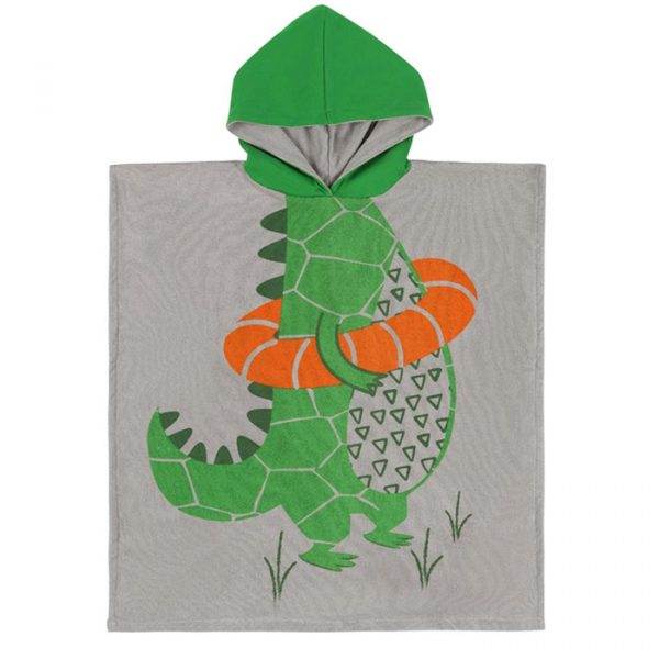 Zoocchini Kids Hooded Poncho Aiden the Alligator