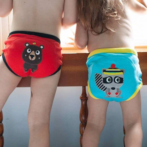 Zoocchini 3 Piece Organic Potty Training Pants Forest Chums