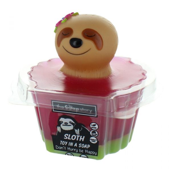 The Soap Story Sloth Toy in a Soap 90g