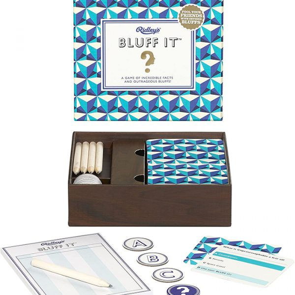 Ridley's Bluff it - Trivia game Card game