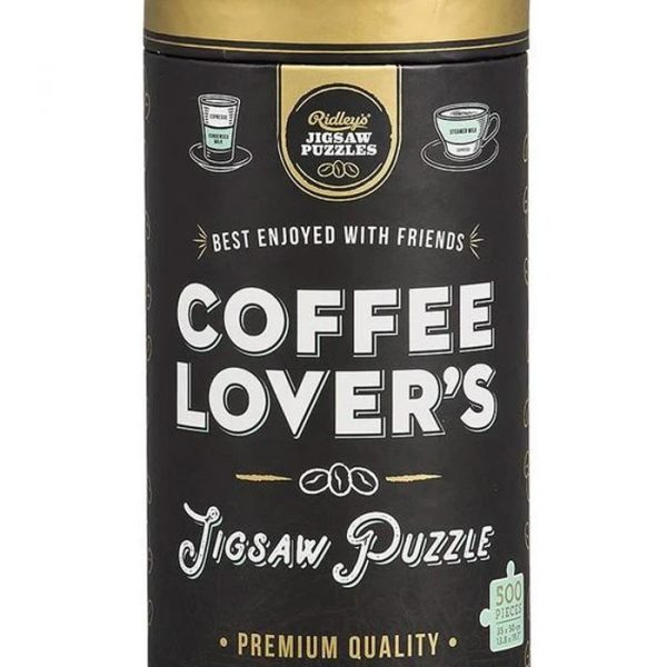 Ridley's Jigsaw Puzzle 500pcs Tube Coffee Lovers