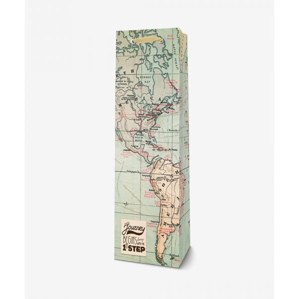 Legami Bottle Gift Bag Map Every Journey Begins Always With The 1st Step