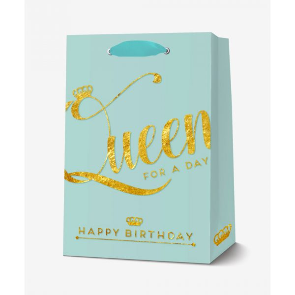 Legami Gift Bag Large Queen Happy Birthday