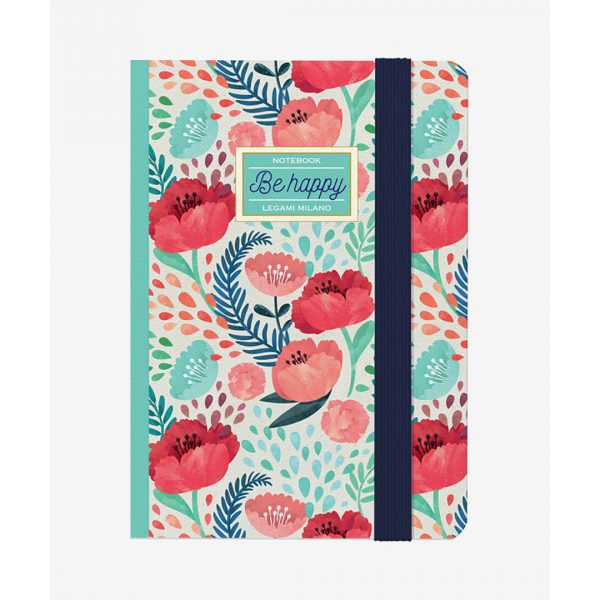 Legami Photo Notebook Medium Flowers Be Happy