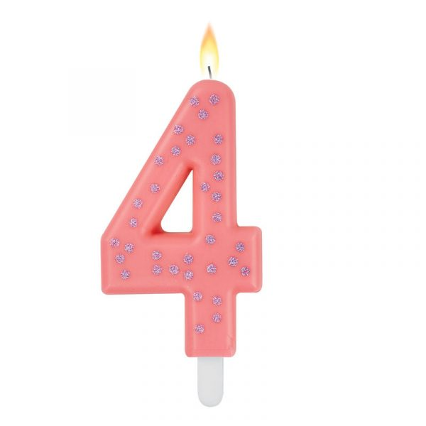 Legami Maxi Candle Number 4 Pink