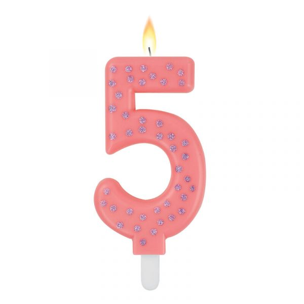 Legami Maxi Candle Number 5 Pink