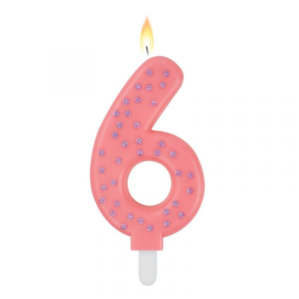 Legami Maxi Candle Number 6 Pink