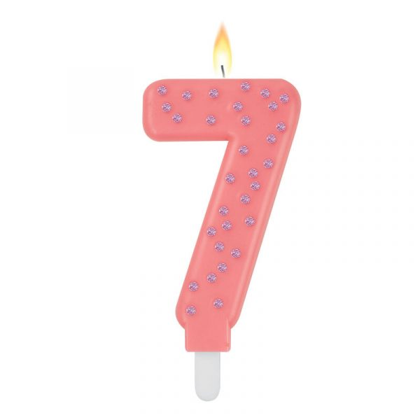 Legami Maxi Candle Number 7 Pink
