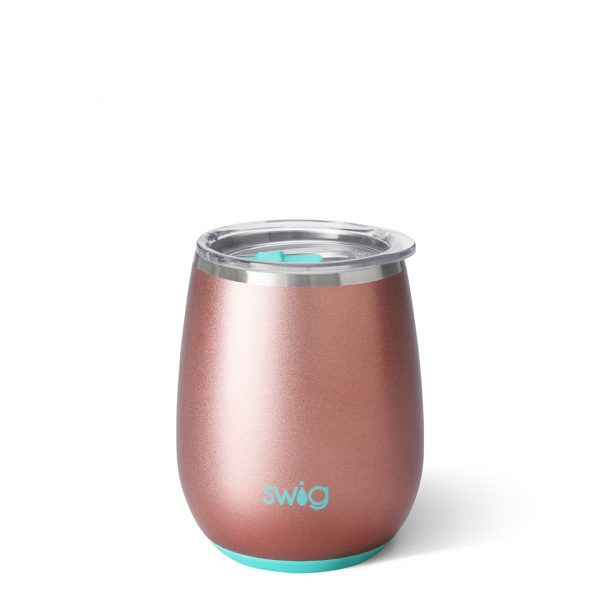 Swig Stemless Wine Cup Rose Gold 14Oz
