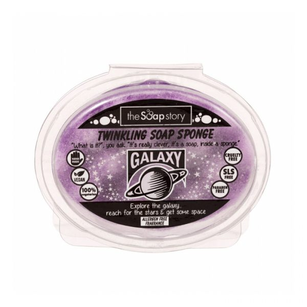 The Soap Story Galaxy Twinkling Soap Sponge 150g