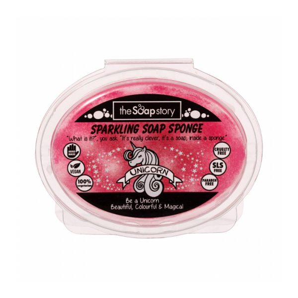 The Soap Story Unicorn Sparkling Soap Sponge 150g