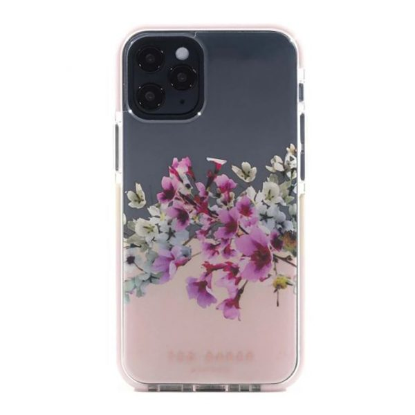 Ted Baker iPhone 12  / 12 Pro AntiShock Floral Phone Case Jasmine Clear