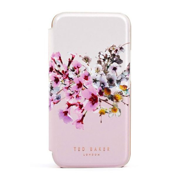 Ted Baker iPhone 12 Pro Max Mirror Folio Phone Case Jasmine Pink Rose Gold