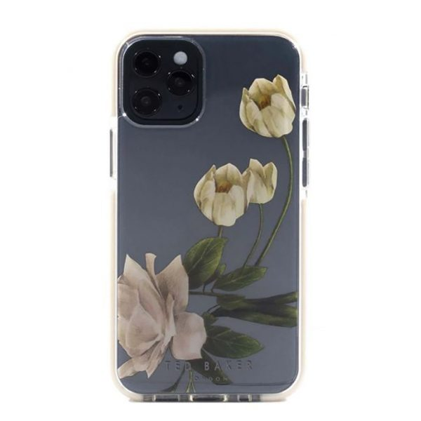 Ted Baker iPhone 12 Pro Max AntiShock Floral Phone Case ElderFlower Clear