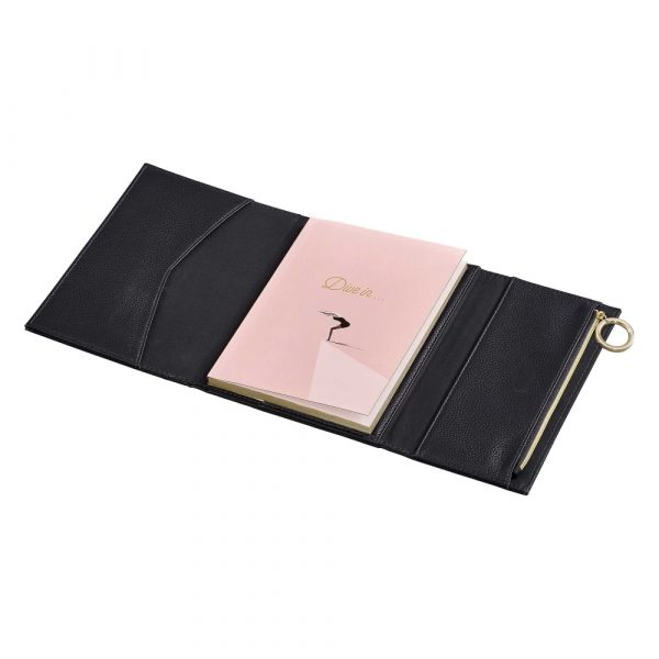 Ted Baker Notebook with Pencil Case, Black