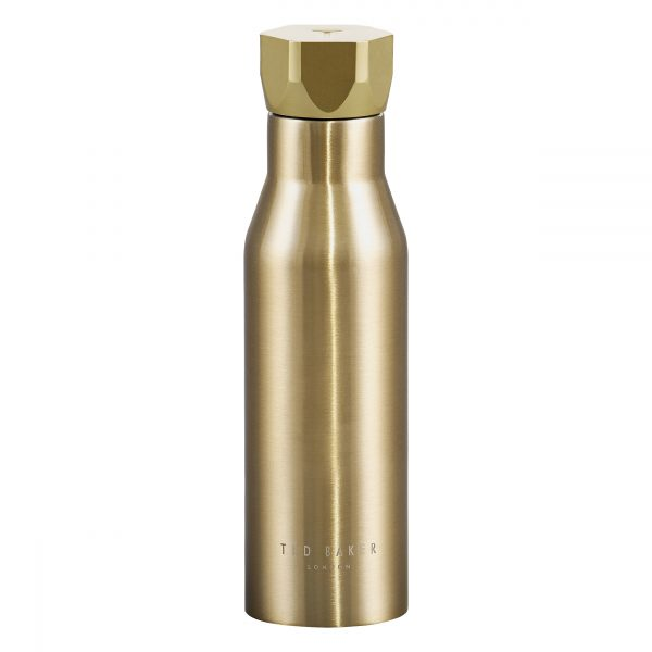 Ted Baker Water Bottle Hexagonal Lid Pale Gold
