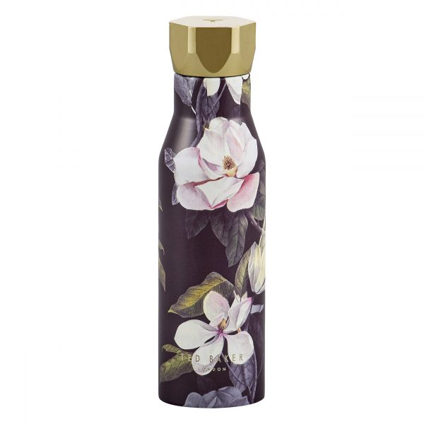 Ted Baker Water Bottle Knurled Lid Black Opal